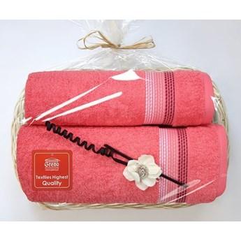 Komplet ręczników na prezent Frotex Ombre Koral