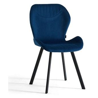 Krzesło tapicerowane granatowe ▪️ DC-6350 ▪️ Welur 64