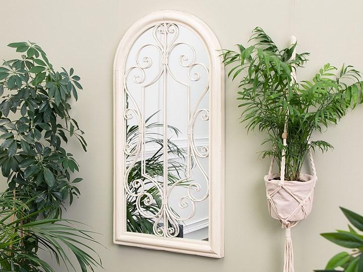 Lustro ścienne wiszące białe ozdobne w kształcie okna vintage Nieregularne Lustro z ramą Pomieszczenie Salon