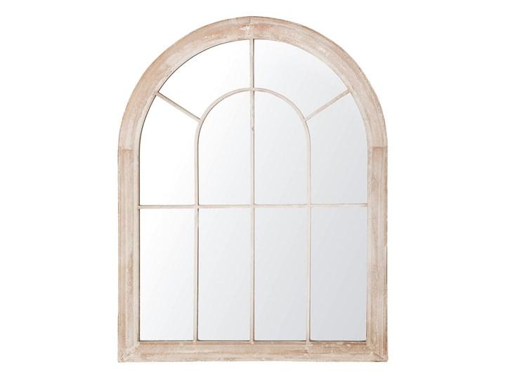 Lustro ścienne wiszące beżowe 69 x 88 cm w kształcie okna salon przedpokój Nieregularne Styl Nowoczesny Lustro z ramą Pomieszczenie Sypialnia