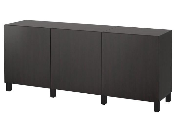 IKEA BESTÅ Kombinacja z drzwiami, Czarnybrąz/Lappviken/Stubbarp czarnybrąz, 180x42x74 cm