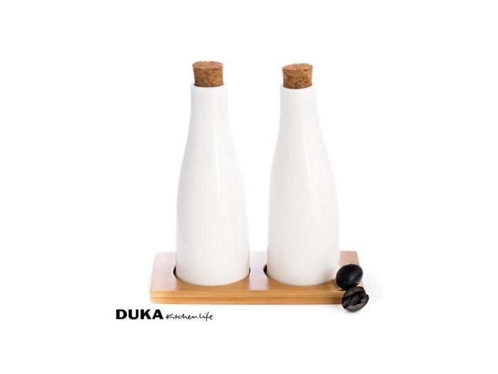 Porcelanowy zestaw do oliwy i octu Ceramika Kolor Brązowy Pojemnik na ocet i oliwę Zestaw do przypraw Kategoria Przyprawniki