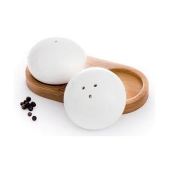 Zestaw solniczka pieprzniczka DUKA WAREWOOD porcelana