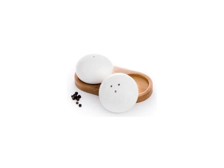 Zestaw solniczka pieprzniczka DUKA WAREWOOD porcelana Kategoria Przyprawniki Drewno Solniczka i pieprzniczka Ceramika Zestaw do przypraw Kolor Brązowy