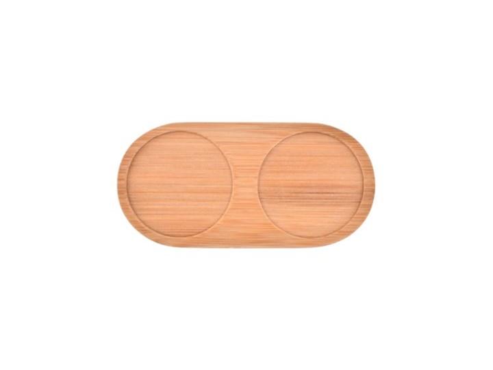 Zestaw solniczka pieprzniczka DUKA WAREWOOD porcelana Zestaw do przypraw Solniczka i pieprzniczka Ceramika Drewno Kolor Brązowy
