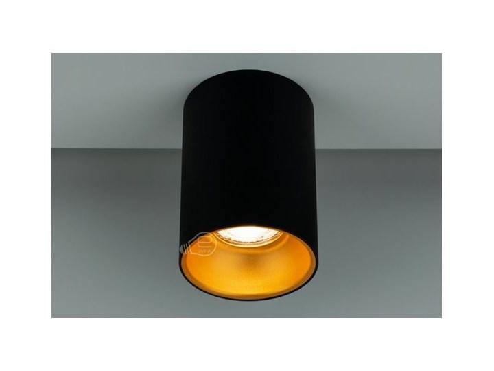 Punktowa oprawa sufitowa natynkowa ZAMA Black Gold GU10 okrągła czarna, środek złoty IP20 EDO777343 EDO Okrągłe Oprawa stropowa Kolor Czarny Kategoria Oprawy oświetleniowe