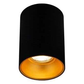 Punktowa oprawa sufitowa natynkowa ZAMA Black Gold GU10 okrągła czarna, środek złoty IP20 EDO777343 EDO