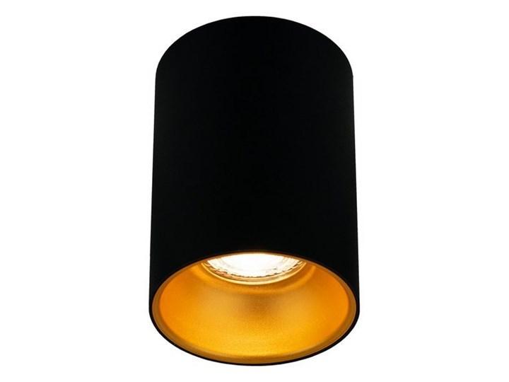 Punktowa oprawa sufitowa natynkowa ZAMA Black Gold GU10 okrągła czarna, środek złoty IP20 EDO777343 ...
