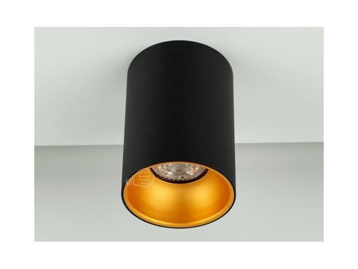 Punktowa oprawa sufitowa natynkowa ZAMA Black Gold GU10 okrągła czarna, środek złoty IP20 EDO777343 EDO Oprawa stropowa Okrągłe Kolor Czarny