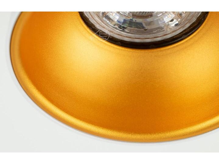 Punktowa oprawa sufitowa natynkowa ZAMA White Gold GU10 okrągła biała, środek złoty IP20 EDO777342 EDO Okrągłe Oprawa stropowa Kolor Biały