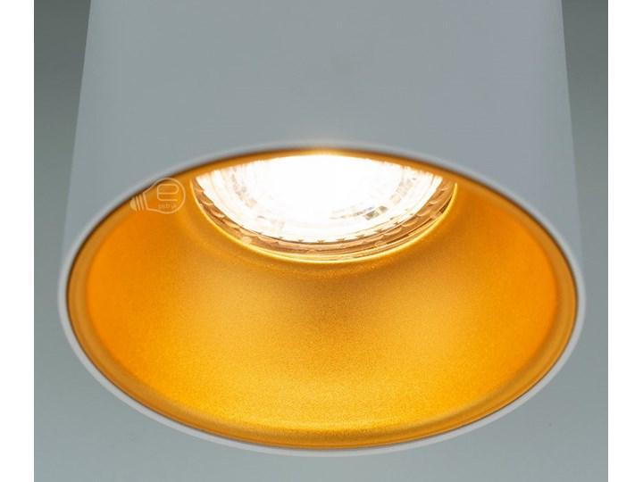 Punktowa oprawa sufitowa natynkowa ZAMA White Gold GU10 okrągła biała, środek złoty IP20 EDO777342 EDO Oprawa stropowa Okrągłe Kolor Biały
