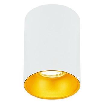 Punktowa oprawa sufitowa natynkowa ZAMA White Gold GU10 okrągła biała, środek złoty IP20 EDO777342 EDO