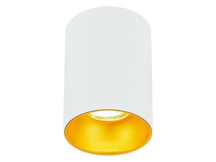 Punktowa oprawa sufitowa natynkowa ZAMA White Gold GU10 okrągła biała, środek złoty IP20 EDO777342 E ...