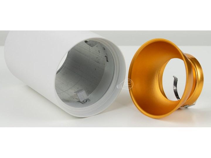 Punktowa oprawa sufitowa natynkowa ZAMA White Gold GU10 okrągła biała, środek złoty IP20 EDO777342 EDO Okrągłe Kolor Biały Oprawa stropowa Kategoria Oprawy oświetleniowe