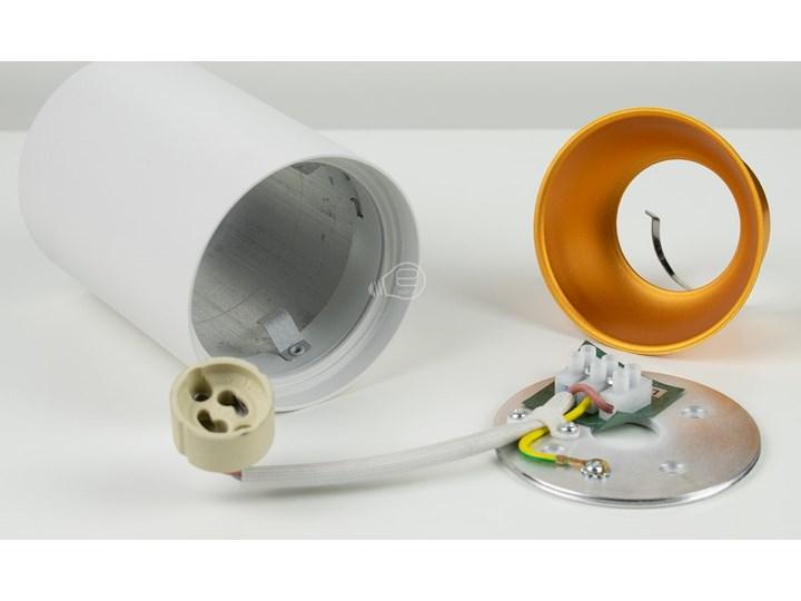 Punktowa oprawa sufitowa natynkowa ZAMA White Gold GU10 okrągła biała, środek złoty IP20 EDO777342 EDO Kolor Biały Okrągłe Oprawa stropowa Kategoria Oprawy oświetleniowe