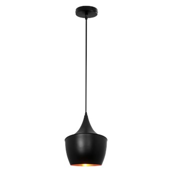 Lampa wisząca TRINA E27 czarna pozłacana EDO777201 EDO
