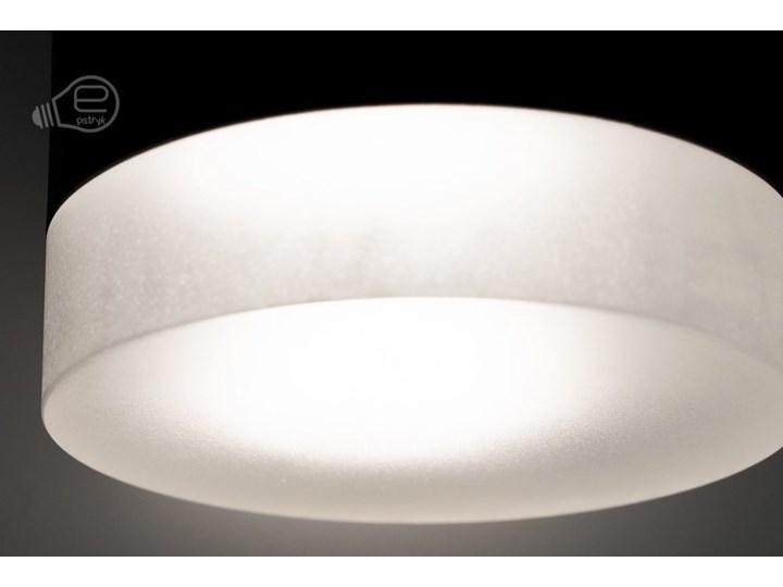 Punktowa oprawa sufitowa natynkowa ZIRA GU10 okrągła czarna, pierścień biały mrożony EDO777340 EDO Oprawa stropowa Okrągłe Kolor Czarny