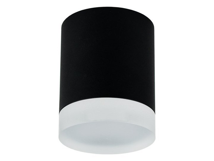 Punktowa oprawa sufitowa natynkowa ZIRA GU10 okrągła czarna, pierścień biały mrożony EDO777340 EDO Okrągłe Oprawa stropowa Kolor Czarny