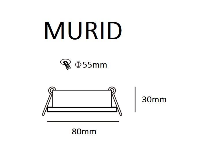 Punktowa oprawa sufitowa wpuszczana MURID Nickel IP20 okrągła nikiel EDO777294 EDO Oprawa stropowa Okrągłe Oprawa wpuszczana Kategoria Oprawy oświetleniowe