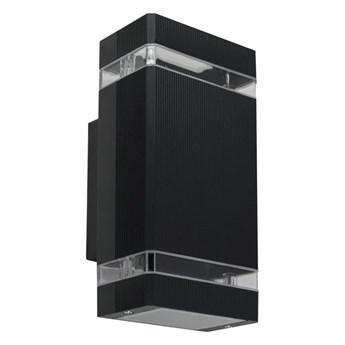 Oprawa elewacyjna kinkiet PANAM Black IP44 2xGU10 czarny EDO777155 Garden Line EDO