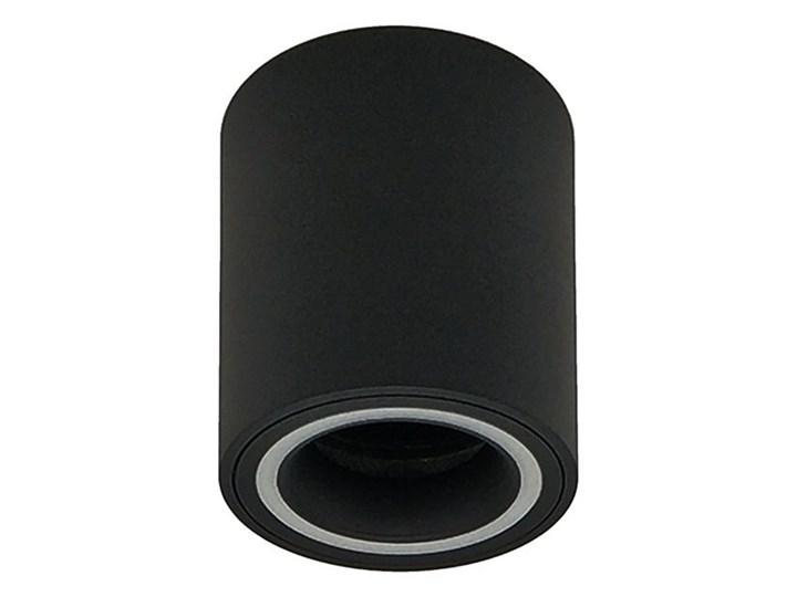 Punktowa oprawa sufitowa natynkowa HALIS OV Black GU10 okrągła czarna, biały pierścień EDO777331 EDO Oprawa stropowa Okrągłe Kolor Czarny
