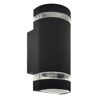 Oprawa elewacyjna kinkiet PANAM OV Black IP54 2xGU10 czarny EDO777355 Garden Line EDO
