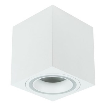Punktowa oprawa sufitowa natynkowa HALIS SQ White GU10 kwadratowa biała, biały pierścień EDO777332 EDO