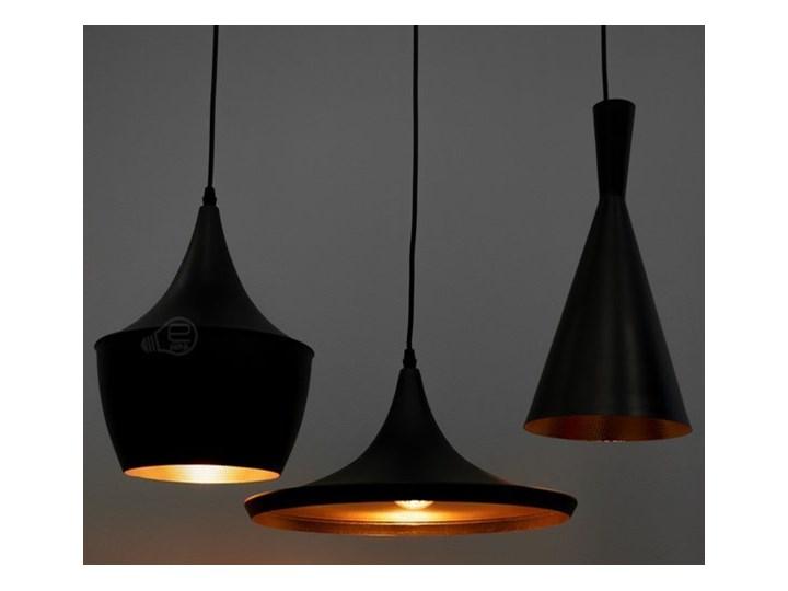 Lampa wisząca LACRI SQ 3xE27 czarna pozłacana EDO777181 EDO Tkanina Stal Metal Szkło Lampa inspirowana Lampa z kloszem Funkcje Brak dodatkowych funkcji