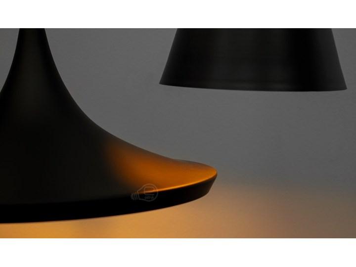 Lampa wisząca LACRI SQ 3xE27 czarna pozłacana EDO777181 EDO Szkło Lampa inspirowana Tkanina Stal Lampa z kloszem Metal Pomieszczenie Salon