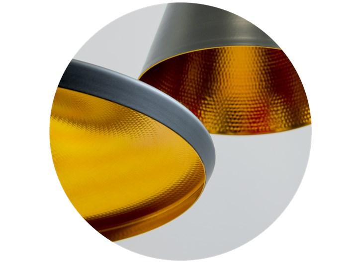 Lampa wisząca LACRI SQ 3xE27 czarna pozłacana EDO777181 EDO Szkło Lampa z kloszem Lampa inspirowana Kategoria Lampy wiszące Metal Tkanina Stal Funkcje Brak dodatkowych funkcji