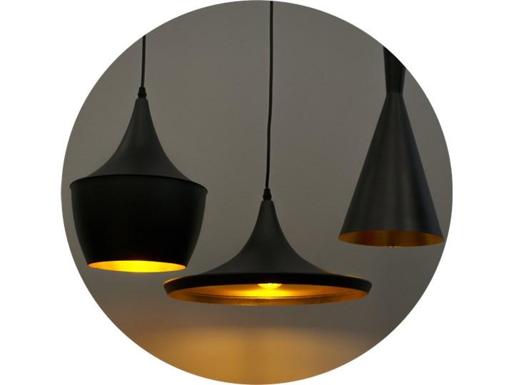 Lampa wisząca LACRI SQ 3xE27 czarna pozłacana EDO777181 EDO Tkanina Lampa z kloszem Szkło Metal Stal Lampa inspirowana Pomieszczenie Salon