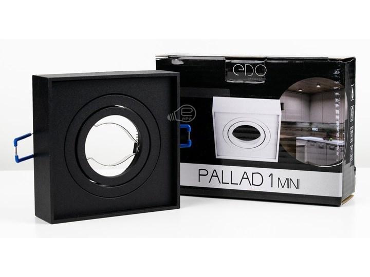 Punktowa oprawa sufitowa wpuszczana PALLAD 1 MINI Black IP20 kwadratowa czarna EDO777125 EDO Oprawa wpuszczana Oprawa stropowa Kwadratowe Kolor Czarny