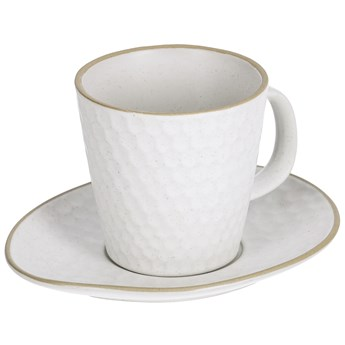 Filizanka do kawy i spodek Manami ceramiczny bialy