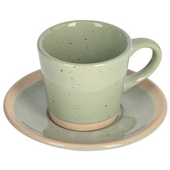 Filizanka do kawy i spodek Tilia ceramiczny jasnozielony