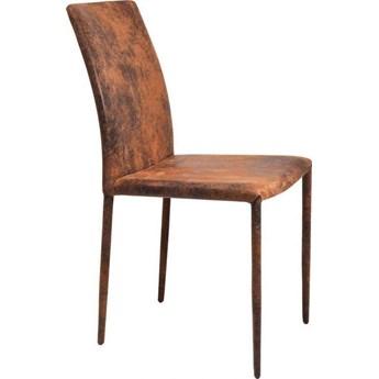 Krzesło Milano 47x91 cm rdzawe mikrofibra