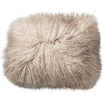 Poduszka dekoracyjna Tibetian Lamb Fur 40x30 cm piaskowa