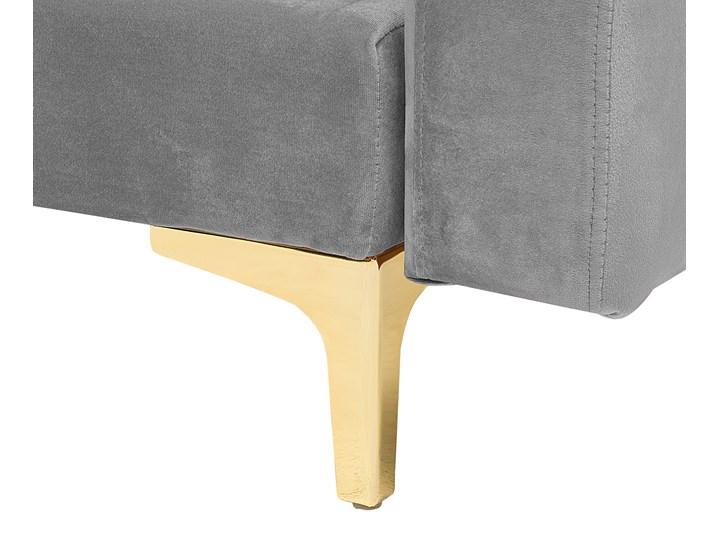 Narożnik rozkładany szary welurowy modułowy 4-osobowy z otomaną nowoczesna pikowana sofa do salonu z szezlongiem prawostronna Wysokość 83 cm Styl Nowoczesny Modułowe Szerokość 267 cm Prawostronne Kategoria Narożniki