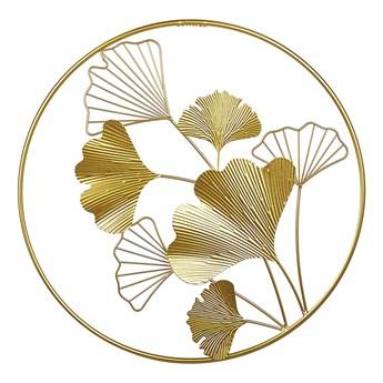 Dekoracja ścienna złota liście metalowa 45 cm ażurowa ozdoba styl nowoczesny