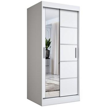 Biała szafa przesuwna z lustrem - Felix 2X