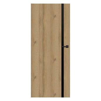 Drzwi pełne Exmoor 80 lewe dąb grandson czarna linia