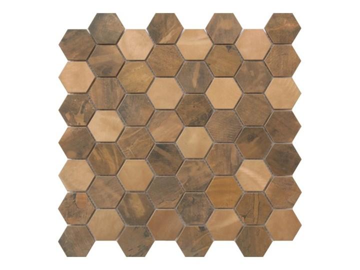 Mozaika Enaide GoodHome 30 x 30 cm hexagon copper Płytki ścienne Heksagon 30x30 cm Powierzchnia Polerowana