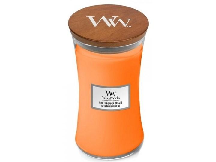 Świeczka średnia WoodWick Chilli Pepper Gelato 609,5g Drewno Świeca Podgrzewacz Świeca zapachowa Kategoria Świeczniki i świece
