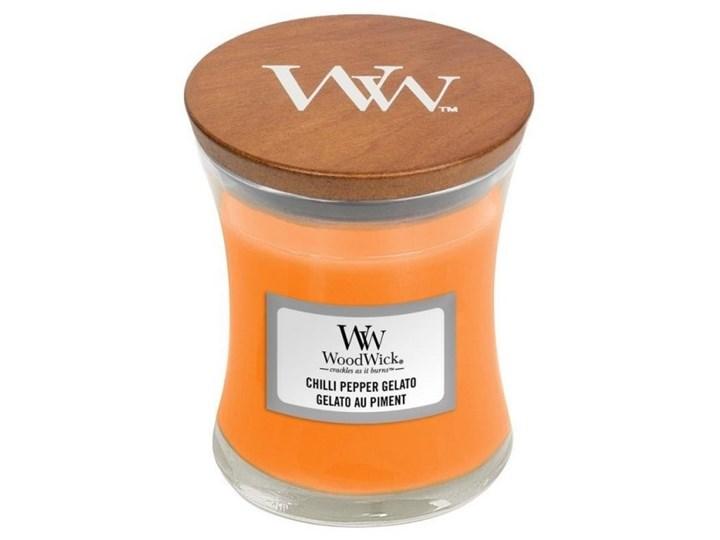 Świeczka średnia WoodWick Chilli Pepper Gelato 85g Podgrzewacz Świeca zapachowa Kategoria Świeczniki i świece Świeca Drewno Kolor Pomarańczowy