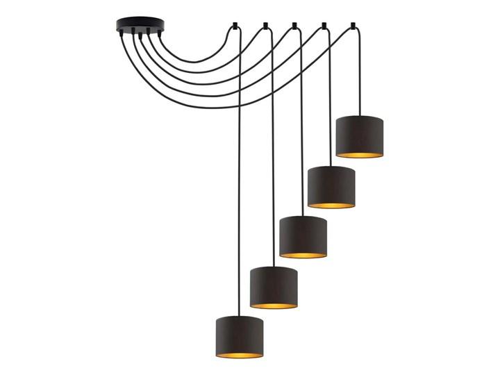 Designerska lampa wisząca pająk WAIKIKI GOLD WYSYŁKA 24H Metal Tkanina Lampa pająk Stal Lampa LED Lampa z abażurem Ilość źródeł światła 5 źródeł
