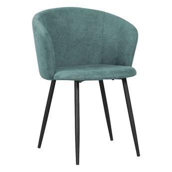 Krzesło SOPHIA ciemnozielony/ noga czarna