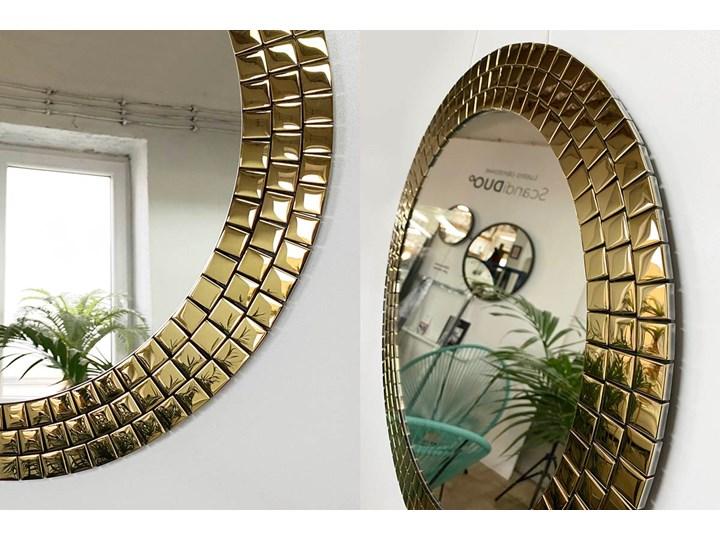 Lustro Aurora Gold Okrągłe Pomieszczenie Salon Lustro z ramą Ścienne Pomieszczenie Łazienka