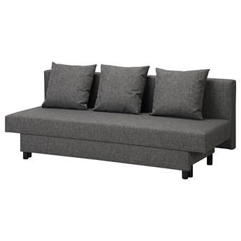 IKEA ASARUM Rozkładana sofa 3-osobowa, ciemnoszary, Szerokość: 191 cm