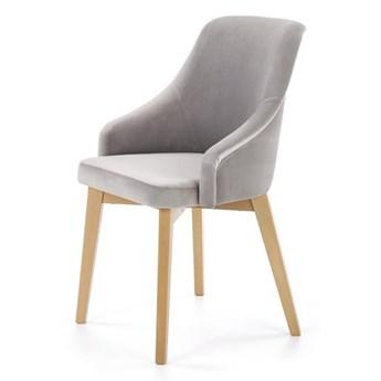 Krzesło Toledo  2 dąb miodowy / solo 265 jasny szary