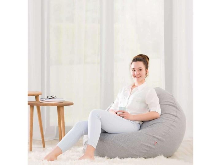 Worek do siedzenia Bowli, Ø50 × 85 cm, Magic Collection Tkanina Kolor Biały