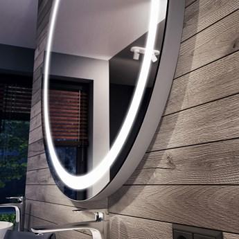 Okrągłe Lustro Łazienkowe Podświetlane LED L33